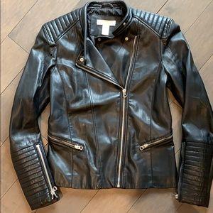 H & M Faux Leather Moto Jacket - US 6
